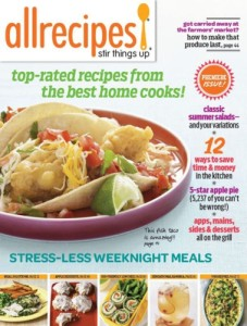 MEREDITH CORPORATION ALLRECIPES NEWSSTAND PILOT COVER