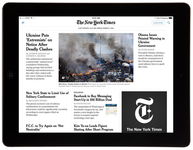 The New York Times Updates Ipad App Now Push Notifications Point