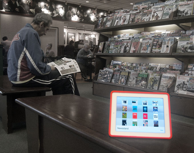 Reports sees the same trend for magazines as eBooks: ending