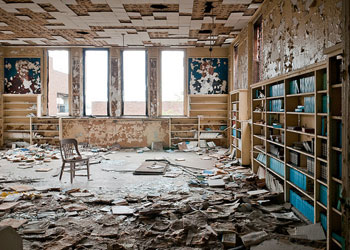 library-abandoned
