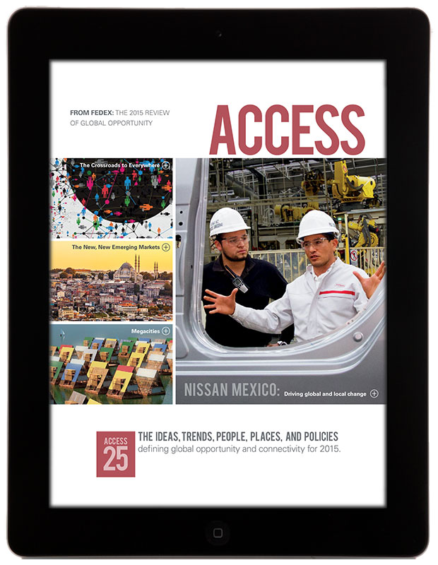 Fedex access magazine released into the apple newsstand for Hanley wood magazines