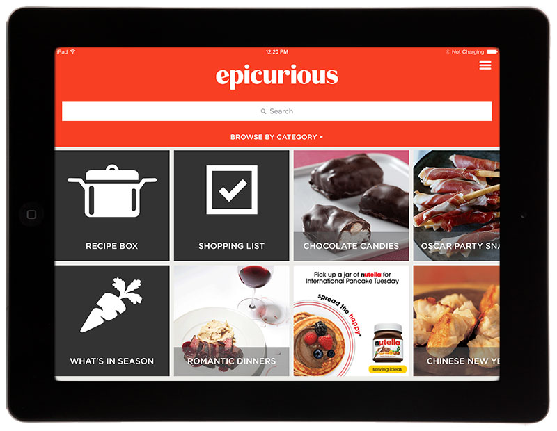 Conde nasts epicurious revamps ios and windows apps following epicurious ipad update forumfinder Gallery