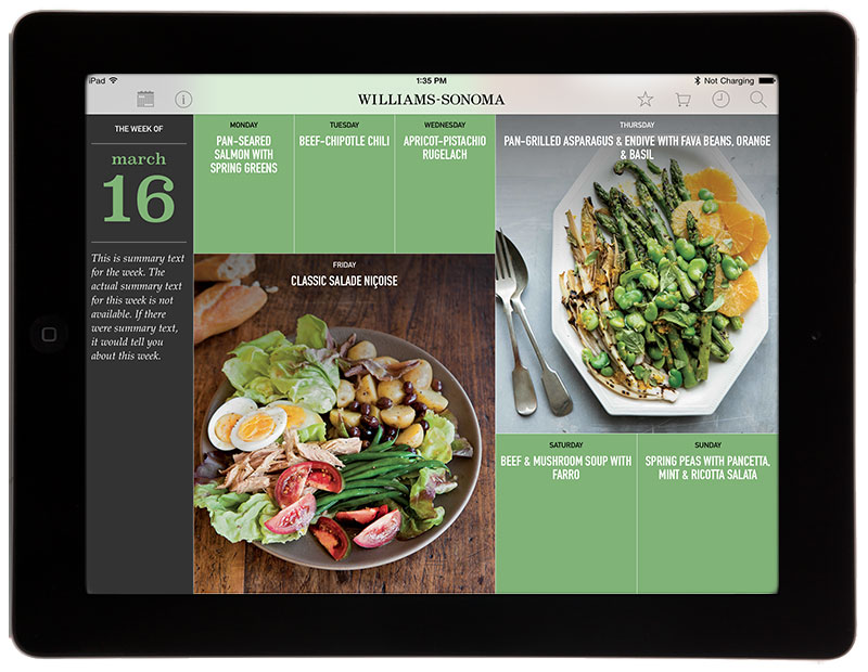 Culinate launches recipe app for williams sonoma and the book recipe of the day from williams sonoma is an interesting idea for a cooking app new recipes one per day free at first but then requiring a subscription forumfinder Images