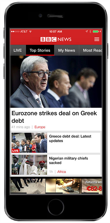 BBC redesigns iOS and Android versions of its BBC News app