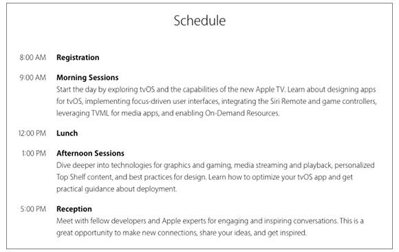 AppleTV-schedule