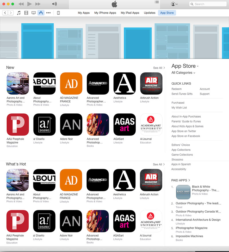 Apple App Store subcategory