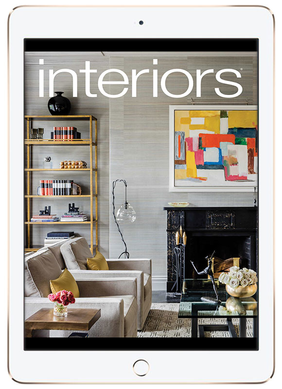 Interiors magazine iPad