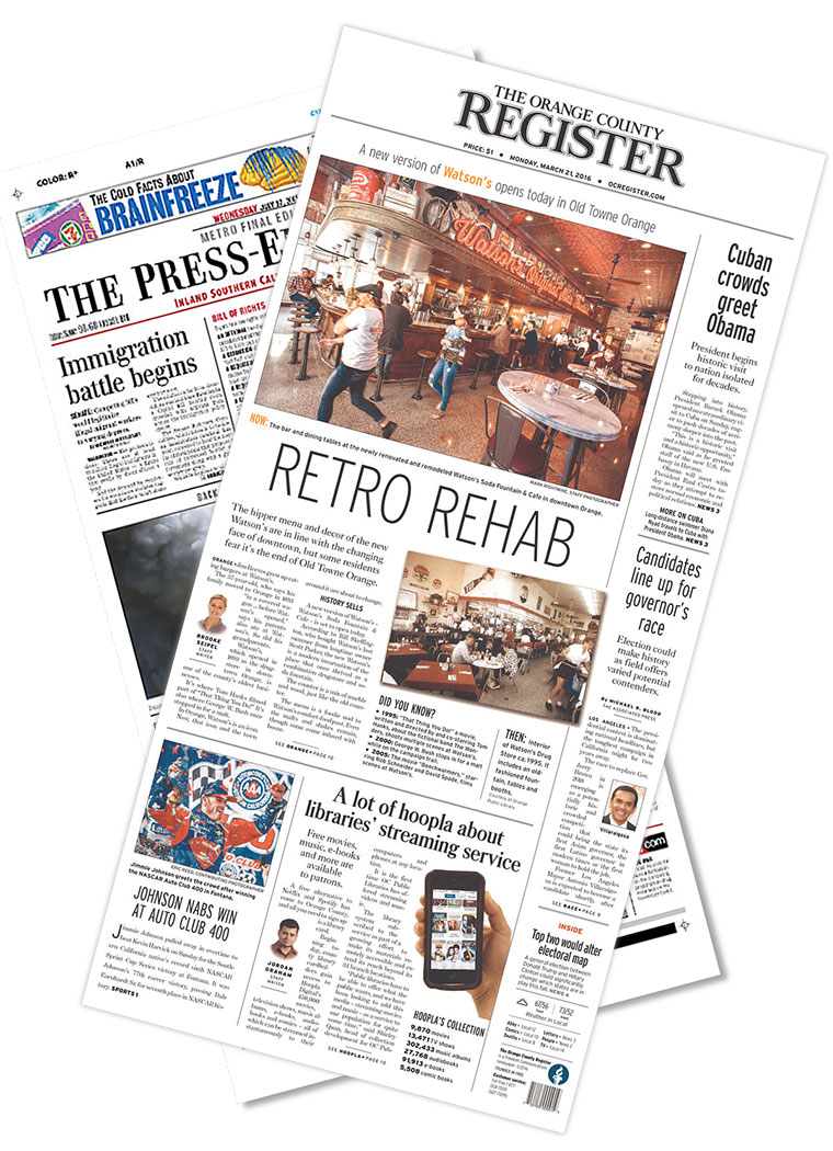 Press-Enterprise Register newspapers