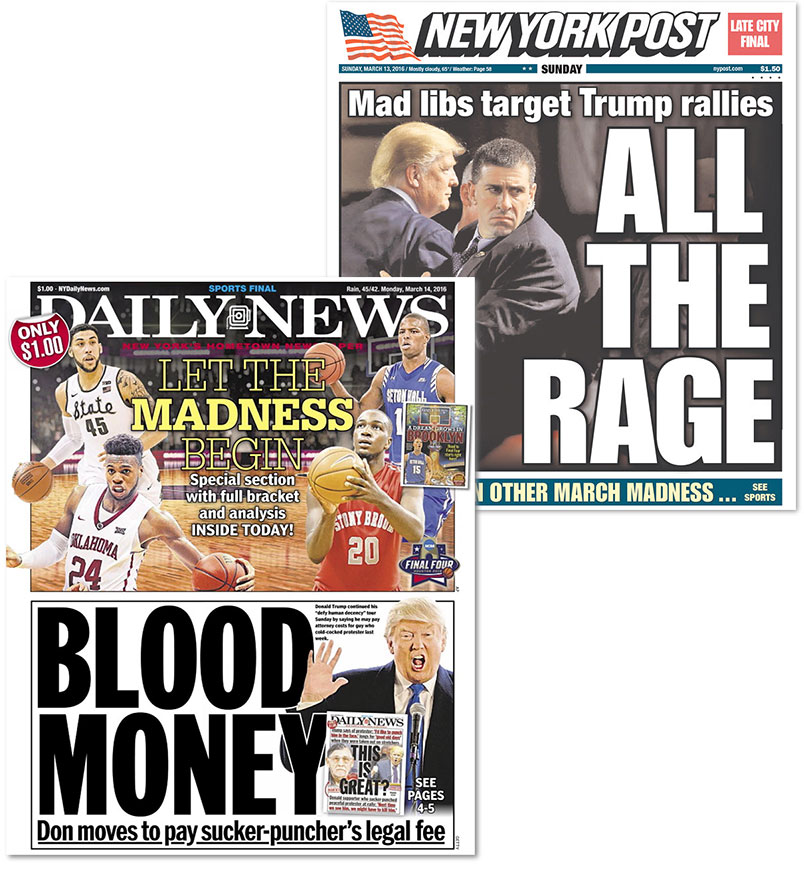 NY Post NY Daily News newspapers