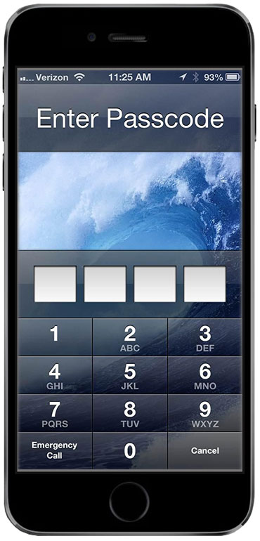 iPhone 6 passcode