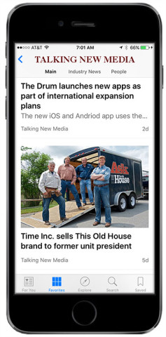 Apple News TalkingNewMedia iPhone app