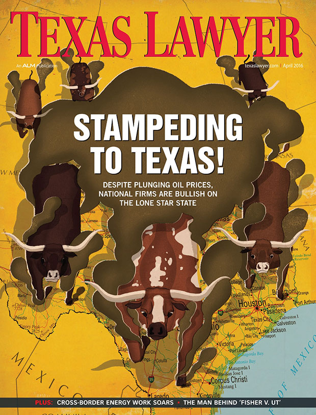 Texas Lawyer magazine cover