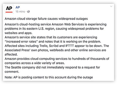 Amazon Web Services outage leads to massive Internet issues