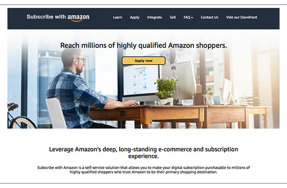 Amazon launches self-service subscriptions marketplace